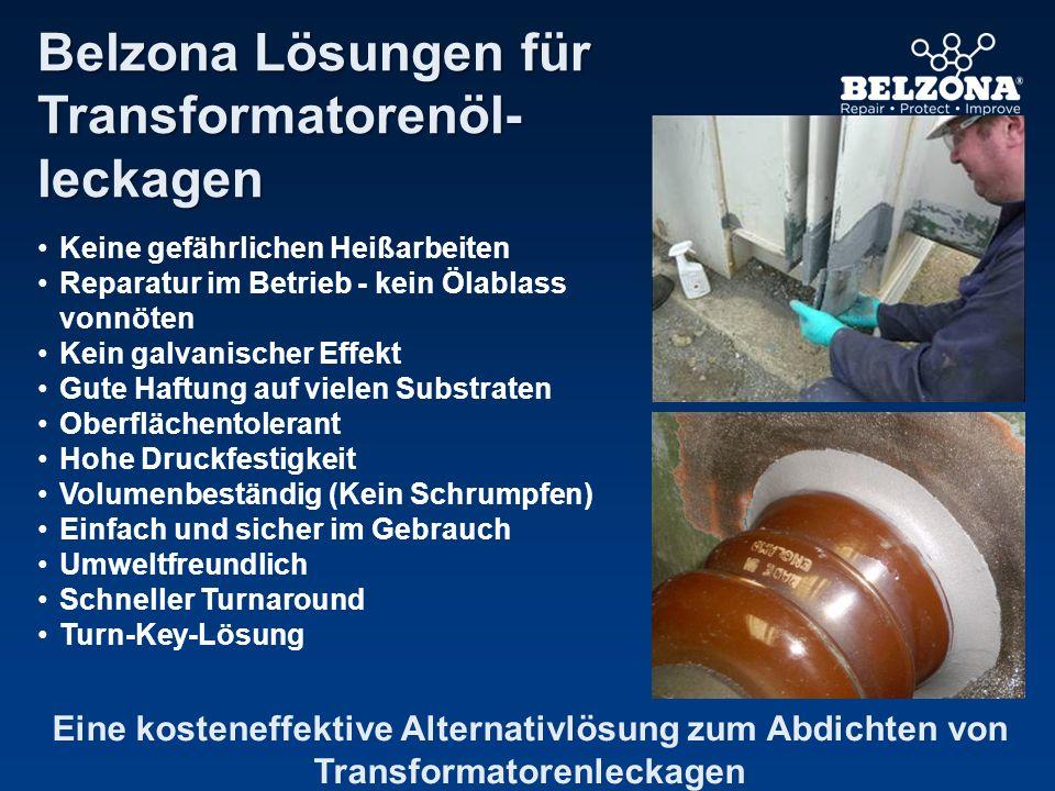 Keine gefährlichen Heißarbeiten Reparatur im Betrieb - kein Ölablass vonnöten Kein galvanischer Effekt Gute Haftung auf vielen Substraten Oberflächent