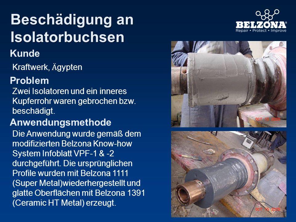 Kunde Problem Anwendungsmethode Beschädigung an Isolatorbuchsen Kraftwerk, Ӓ gypten Zwei Isolatoren und ein inneres Kupferrohr waren gebrochen bzw. be