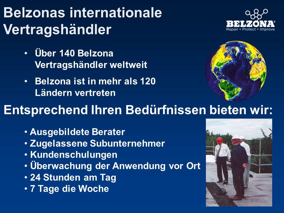 Über 140 Belzona Vertragshändler weltweit Belzona ist in mehr als 120 Ländern vertreten Entsprechend Ihren Bedürfnissen bieten wir: Ausgebildete Berat