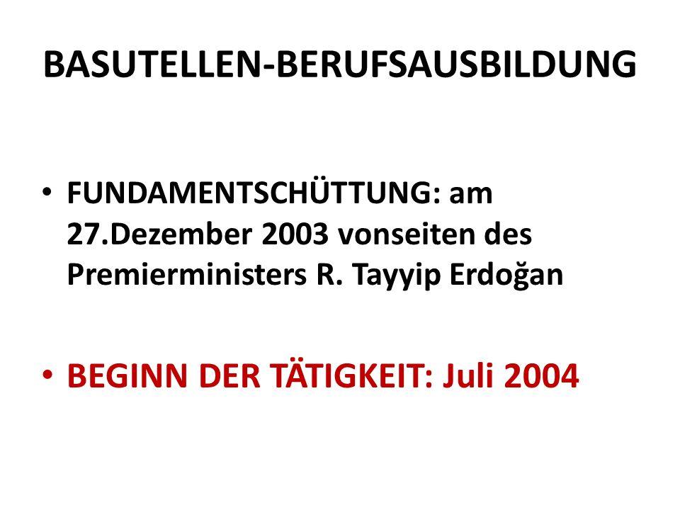 BASUTELLEN-BERUFSAUSBILDUNG FUNDAMENTSCHÜTTUNG: am 27.Dezember 2003 vonseiten des Premierministers R.