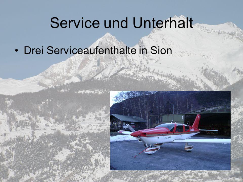Service und Unterhalt Drei Serviceaufenthalte in Sion