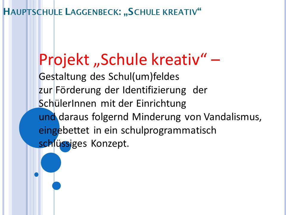 H AUPTSCHULE L AGGENBECK : S CHULE KREATIV Projekt Schule kreativ – Gestaltung des Schul(um)feldes zur Förderung der Identifizierung der SchülerInnen