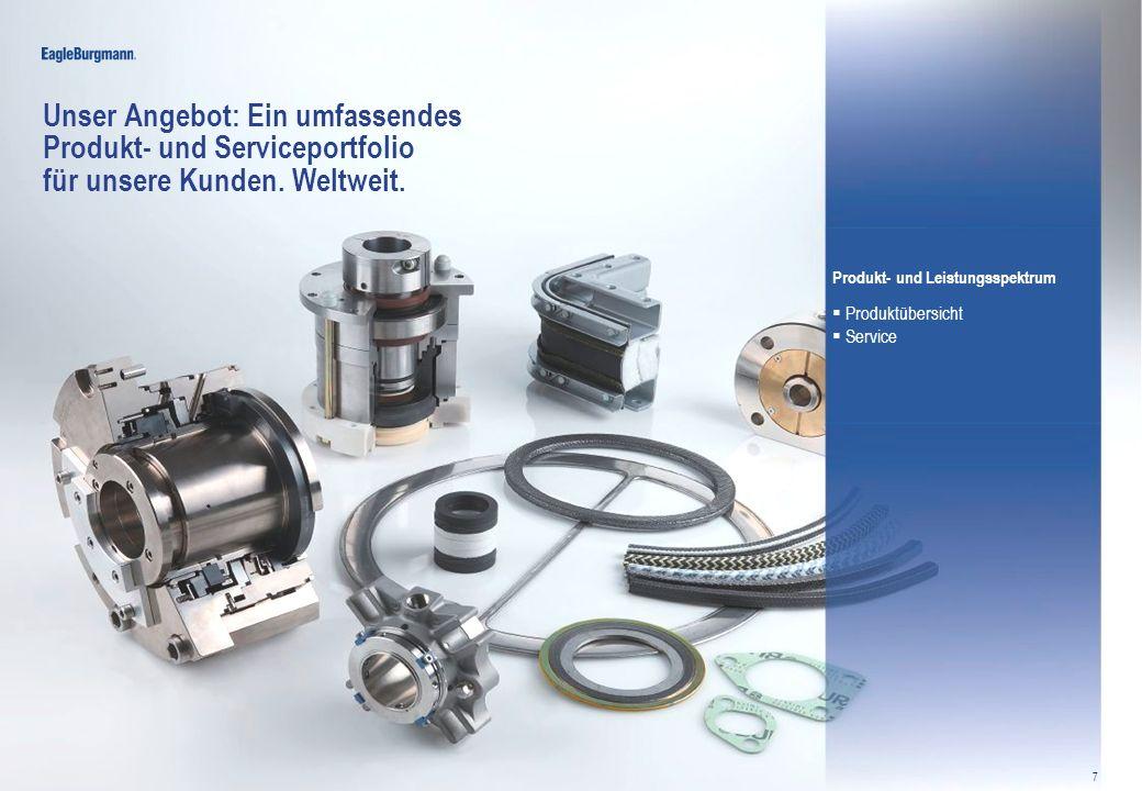 © EagleBurgmannGroup ITJosef Bromberger & Robert Steinke20.03.2013 7 Unser Angebot: Ein umfassendes Produkt- und Serviceportfolio für unsere Kunden. W