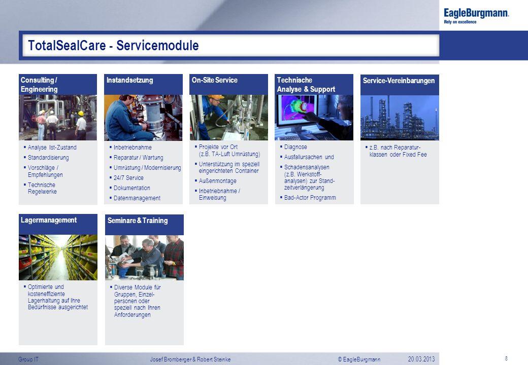 © EagleBurgmannGroup ITJosef Bromberger & Robert Steinke20.03.2013 Diverse Module für Gruppen, Einzel- personen oder speziell nach Ihren Anforderungen