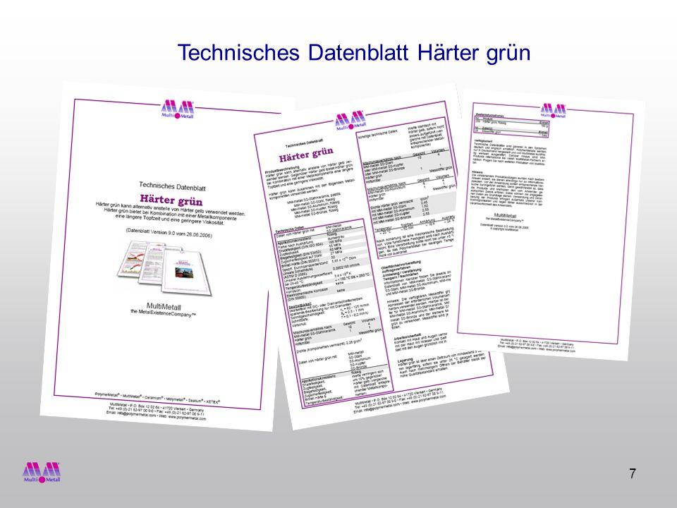 7 Technisches Datenblatt Härter grün