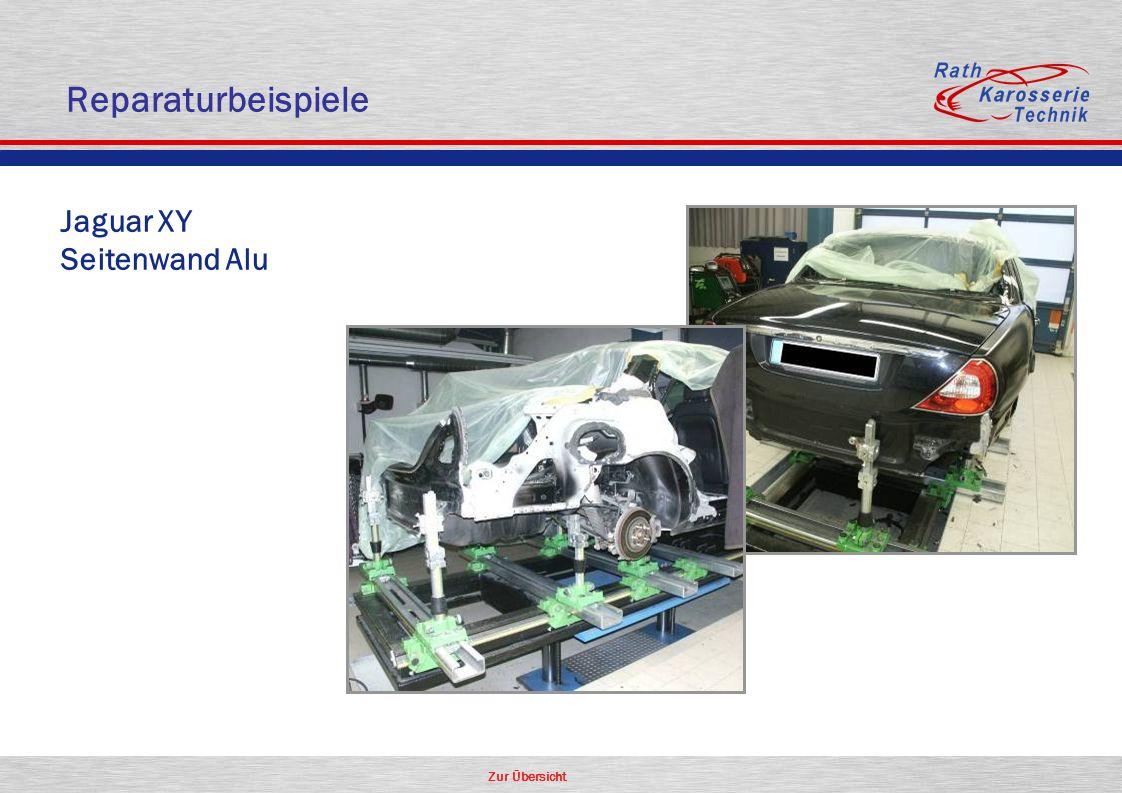 Zur Übersicht Aluminium Jaguar XY Seitenwand Alu Reparaturbeispiele