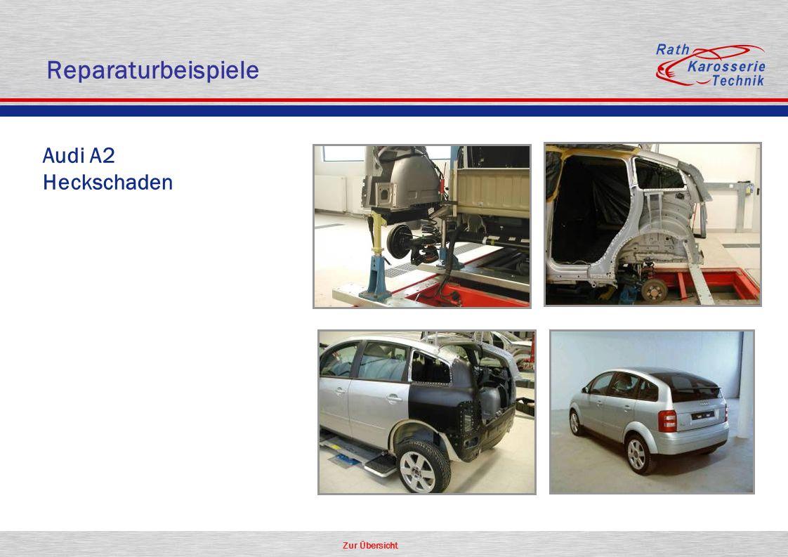 Zur Übersicht Aluminium Audi A2 Heckschaden Reparaturbeispiele