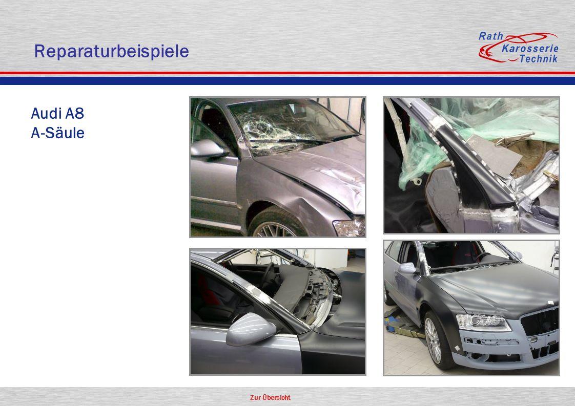 Zur Übersicht Oldtimer Aluminium Audi A8 A-Säule Reparaturbeispiele