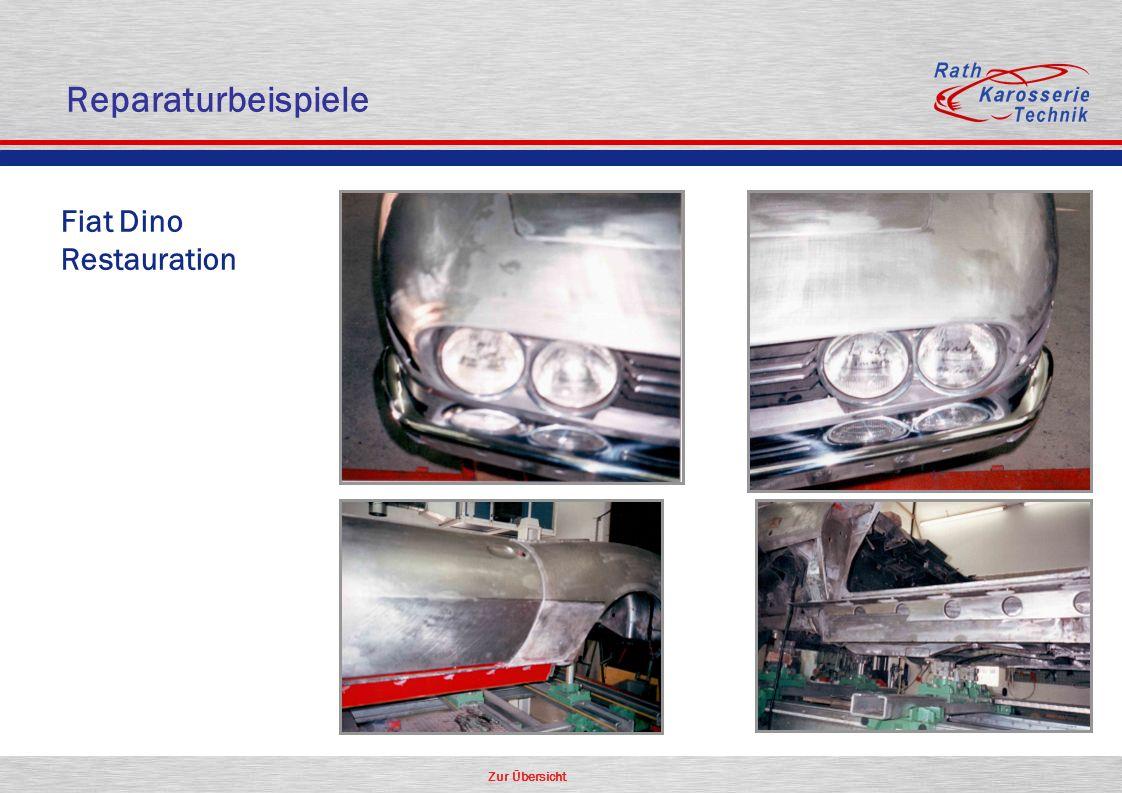 Zur Übersicht Fiat Dino Restauration Reparaturbeispiele
