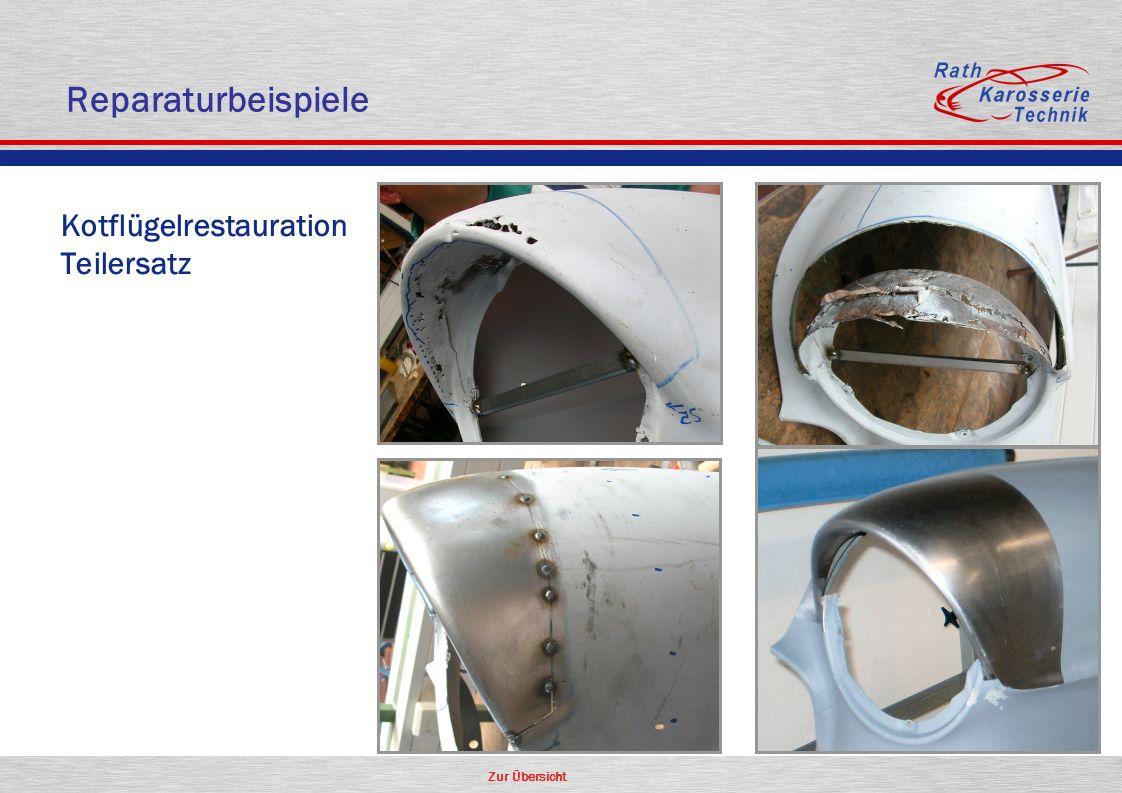 Zur Übersicht Oldtimer Kotflügelrestauration Teilersatz Reparaturbeispiele