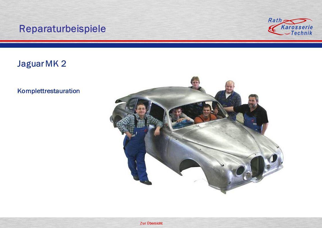 Zur Übersicht Oldtimer Jaguar MK 2 Komplettrestauration Reparaturbeispiele
