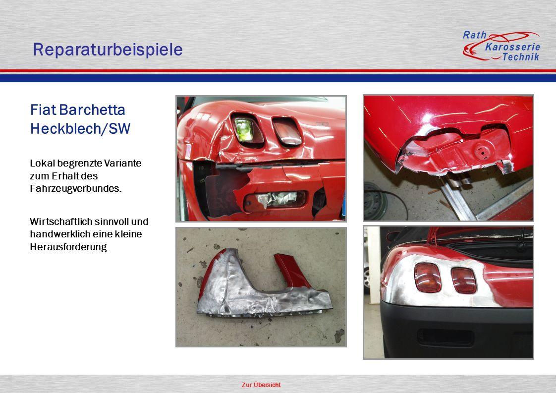 Zur Übersicht Oldtimer Aluminium Fiat Barchetta Heckblech/SW Lokal begrenzte Variante zum Erhalt des Fahrzeugverbundes. Wirtschaftlich sinnvoll und ha