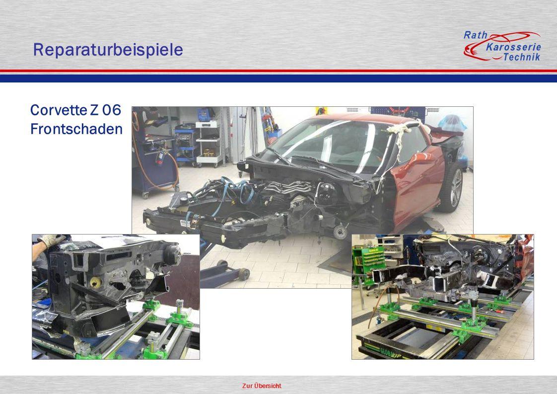 Zur Übersicht Corvette Z 06 Frontschaden Reparaturbeispiele