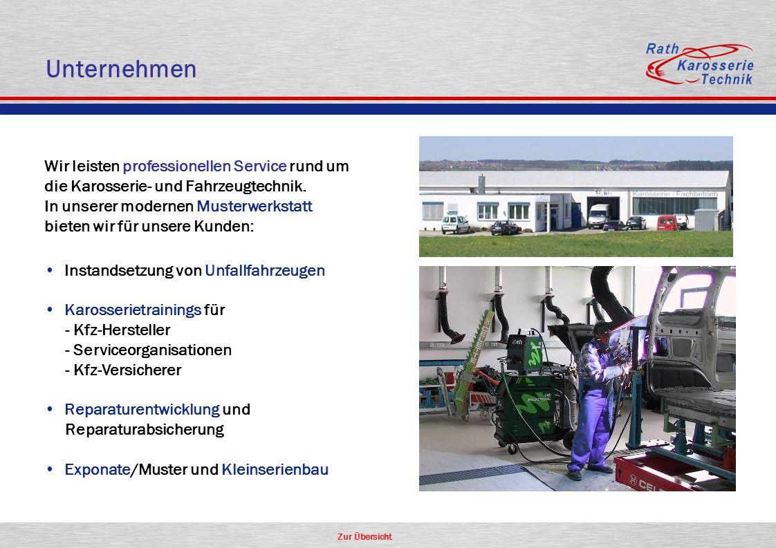 Zur Übersicht Unternehmen Wir leisten professionellen Service rund um die Karosserie- und Fahrzeugtechnik. In unserer modernen Musterwerkstatt bieten