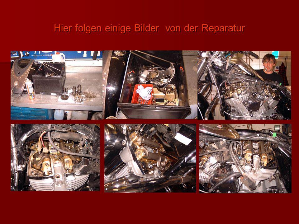 Hier folgen einige Bilder von der Reparatur