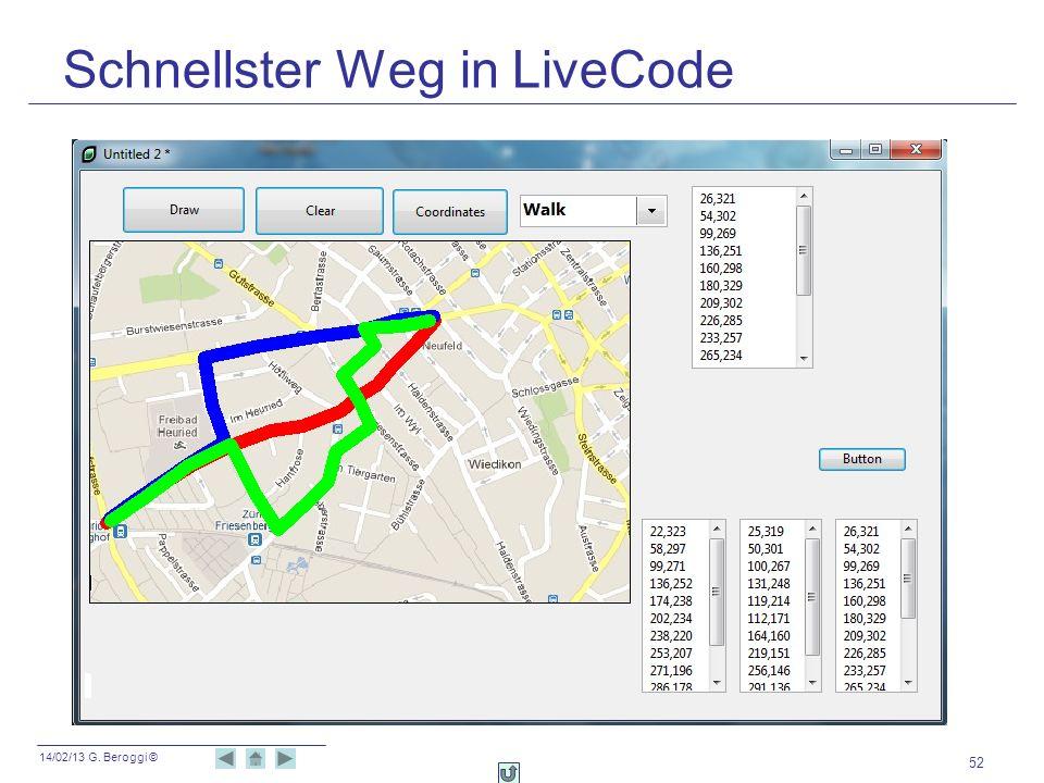 14/02/13 G. Beroggi © Schnellster Weg in LiveCode 52