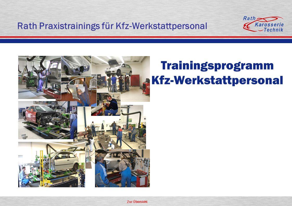 Zur Übersicht Rath Praxistrainings für Kfz-Werkstattpersonal Trainingsprogramm Kfz-Werkstattpersonal