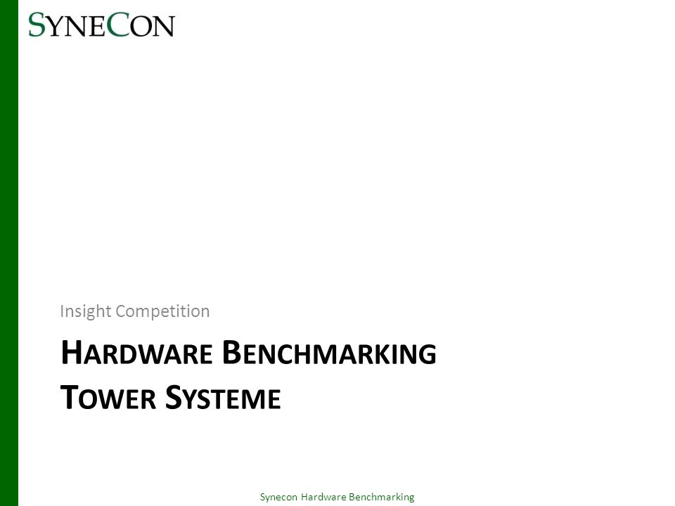 Dell PowerEdge 2900 III – Front Synecon Hardware Benchmarking 06.03.2014 3