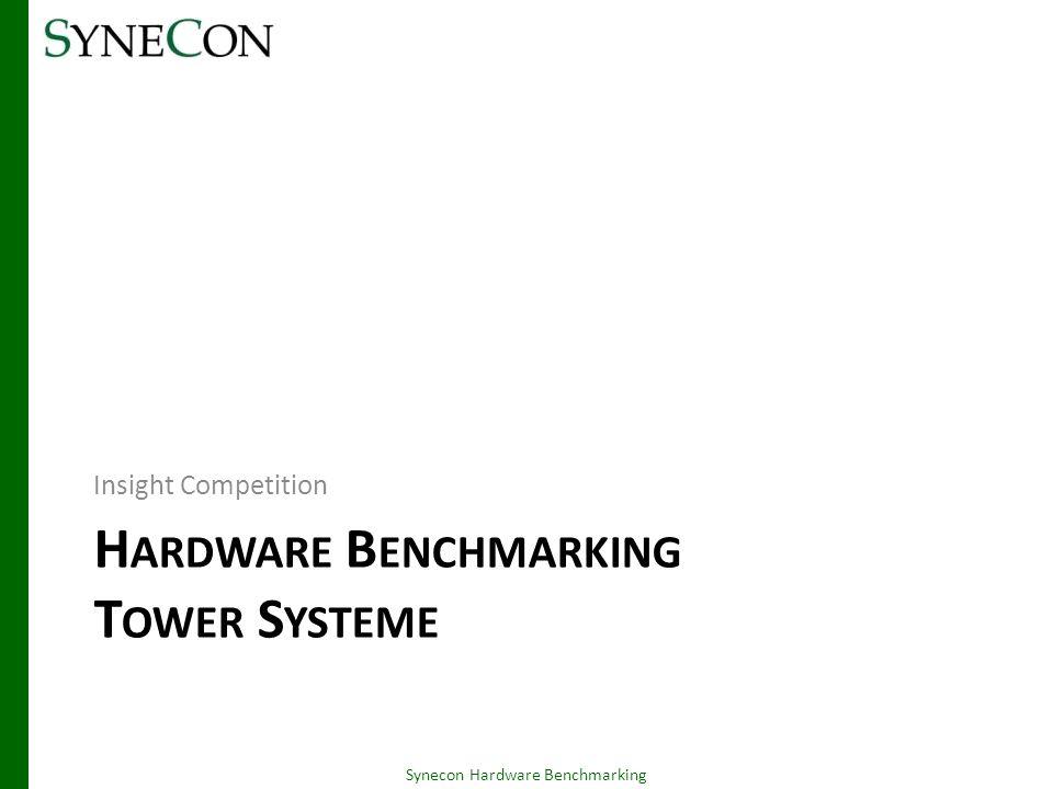 HP c7000 Enclosure – Zusammenfassung 06.03.2014 Synecon Hardware Benchmarking 53 -Auswirkung Benötigt 3HE mehr Platz im RackNimmt ggf.
