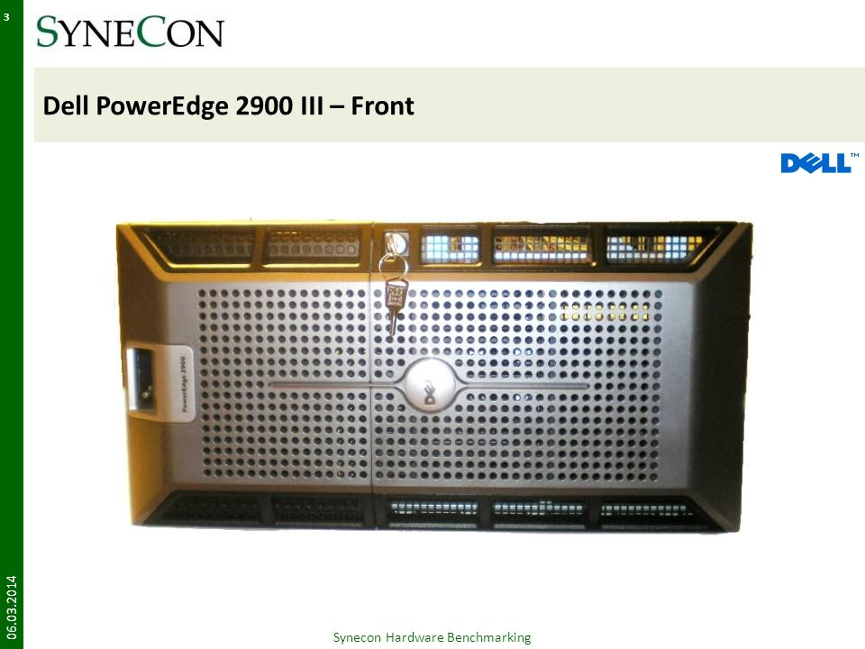 HP Blade BL460c – Front 06.03.2014 54 2 HDD HotSwap Ext. Anschluss Synecon Hardware Benchmarking