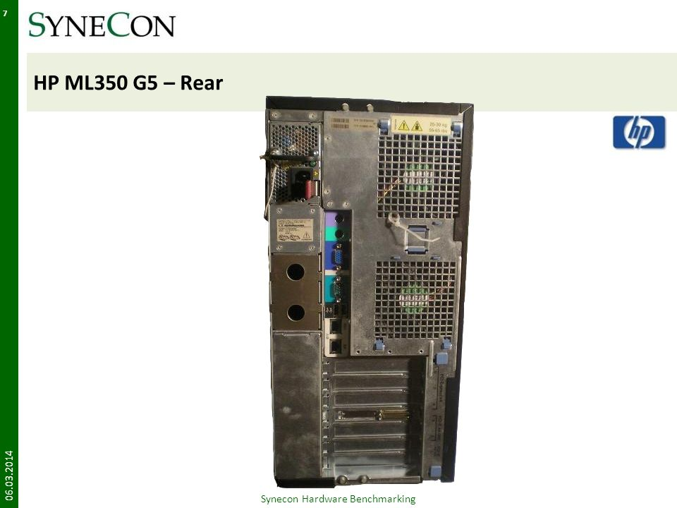 HP DL380 G5 – Manual 06.03.2014 28 Synecon Hardware Benchmarking