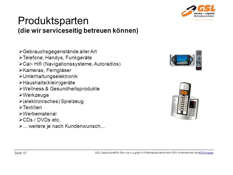 Produktsparten (die wir serviceseitig betreuen können) Gebrauchsgegenstände aller Art Telefone, Handys, Funkgeräte Car- Hifi (Navigationssysteme, Auto