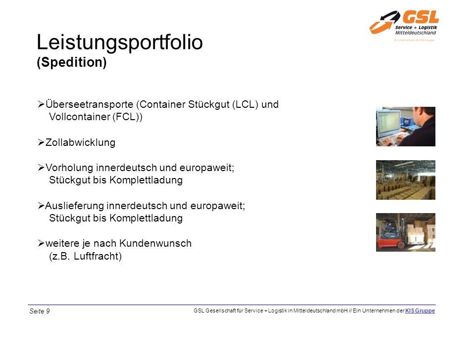 Leistungsportfolio (Spedition) Überseetransporte (Container Stückgut (LCL) und Vollcontainer (FCL)) Zollabwicklung Vorholung innerdeutsch und europawe