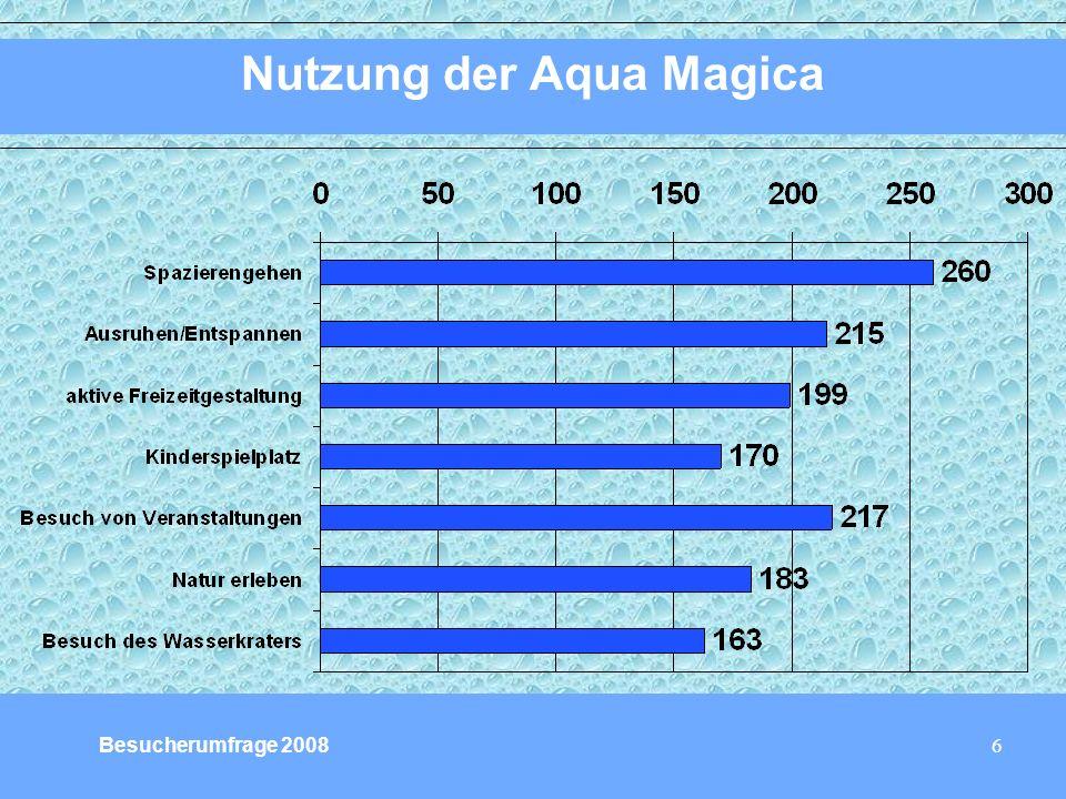 6 Nutzung der Aqua Magica Besucherumfrage 2008