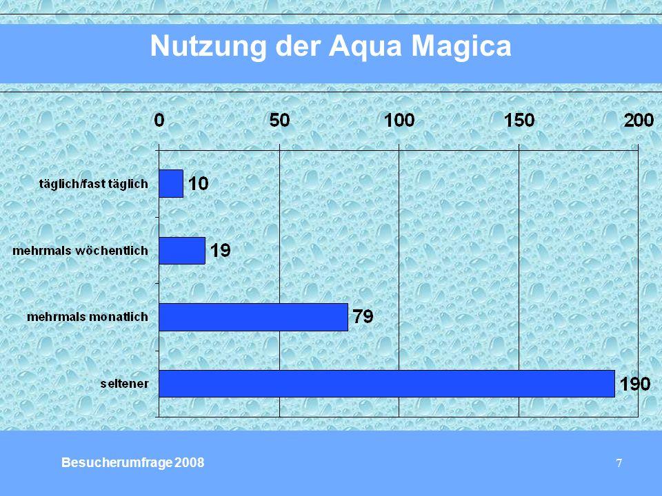 7 Nutzung der Aqua Magica Besucherumfrage 2008