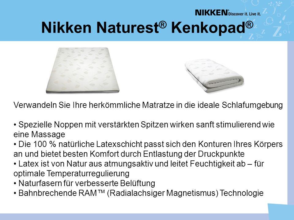 Nikken Naturest ® Kenkopad ® Verwandeln Sie Ihre herkömmliche Matratze in die ideale Schlafumgebung Spezielle Noppen mit verstärkten Spitzen wirken sa