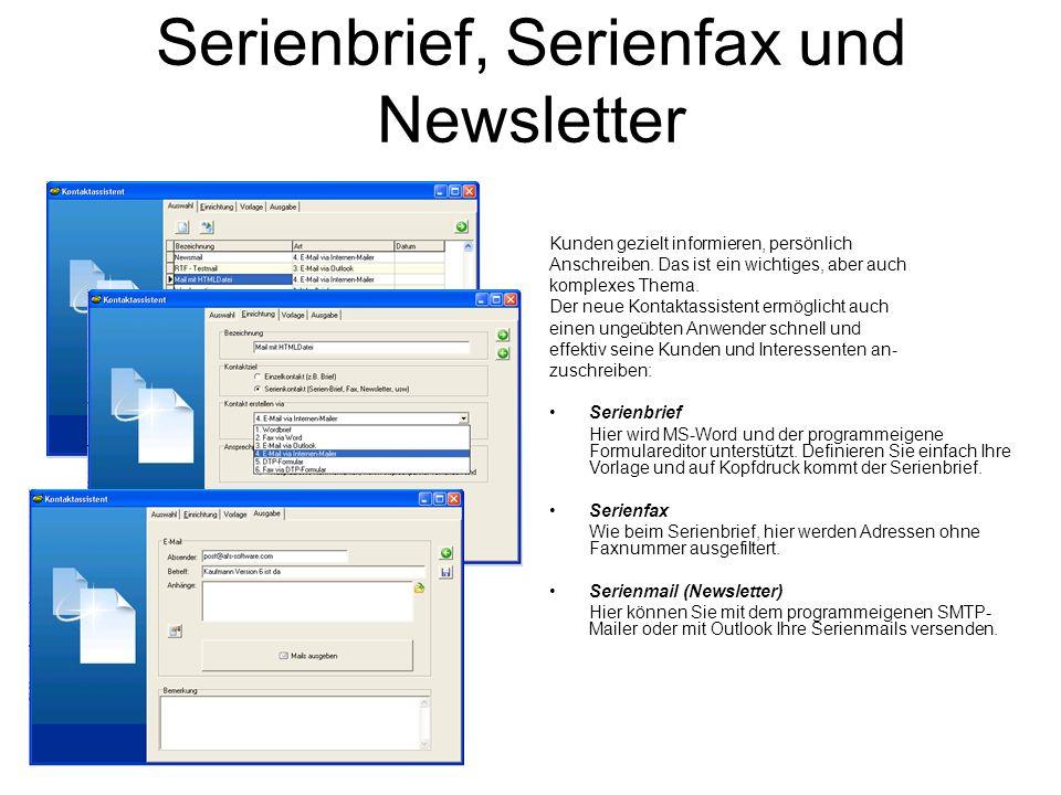 Serienbrief, Serienfax und Newsletter Kunden gezielt informieren, persönlich Anschreiben. Das ist ein wichtiges, aber auch komplexes Thema. Der neue K