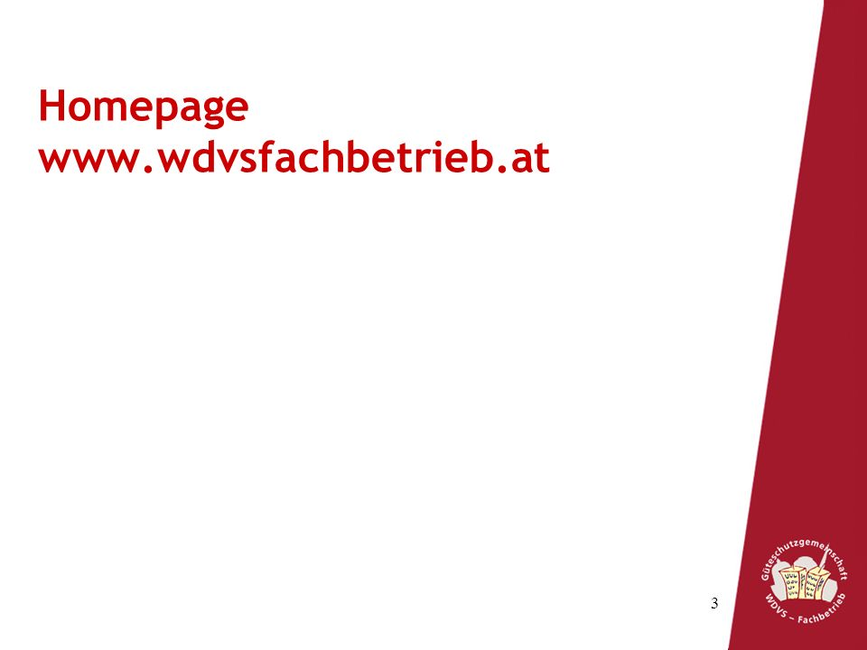 3 Homepage www.wdvsfachbetrieb.at