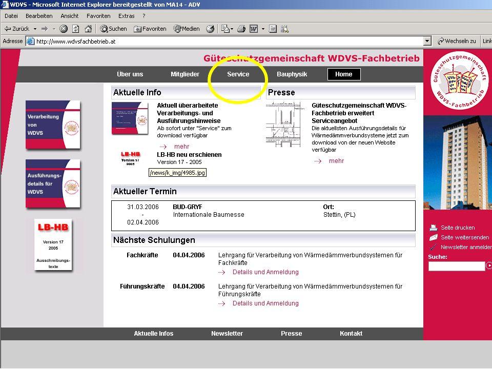 25 EOTA Guideline ETAG 004 für Dämmstoffe < 0,064 W/mK –EPS- F oder MW – PT –Dicke bis 200 mm Mechanische und/oder geklebte Systeme Untergründe –Mauerwerk –Beton Informationen http://www.eota.be