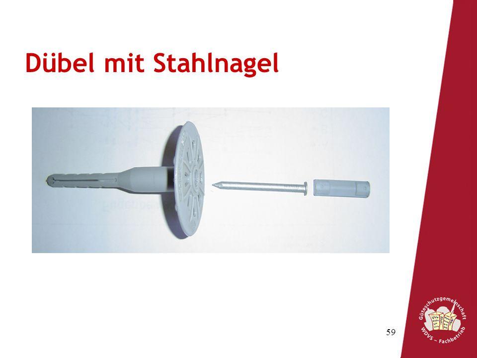 59 Spreizzone Schaft Teller SpreizstiftTreibstift Dübel mit Stahlnagel