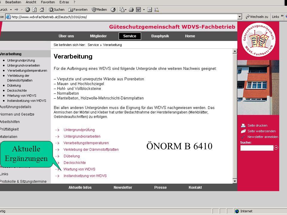6 ÖNORM B 6410 Aktuelle Ergänzungen