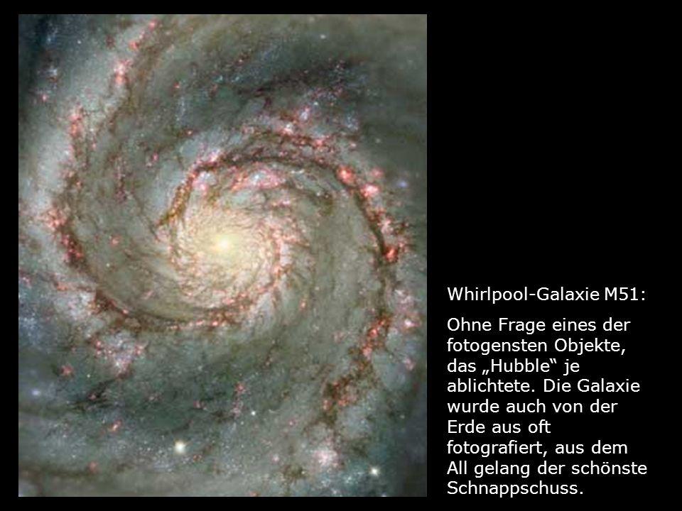 Whirlpool-Galaxie M51: Ohne Frage eines der fotogensten Objekte, das Hubble je ablichtete. Die Galaxie wurde auch von der Erde aus oft fotografiert, a