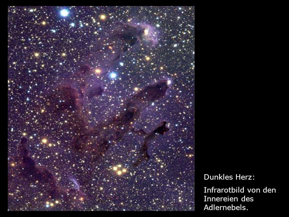 Dunkles Herz: Infrarotbild von den Innereien des Adlernebels.
