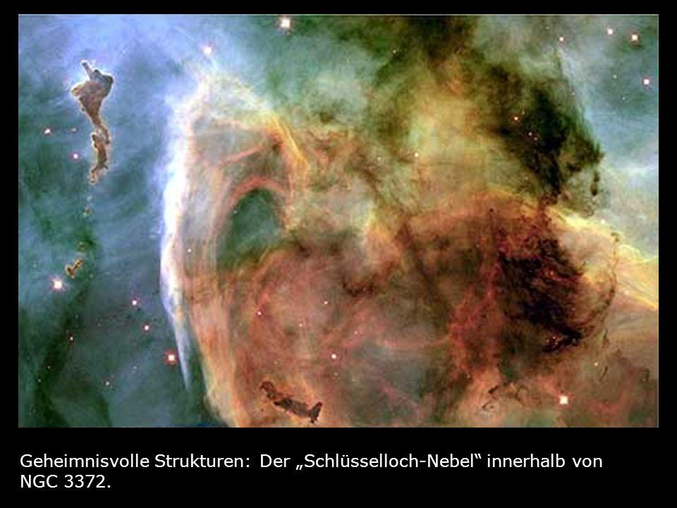 Geheimnisvolle Strukturen: Der Schlüsselloch-Nebel innerhalb von NGC 3372.