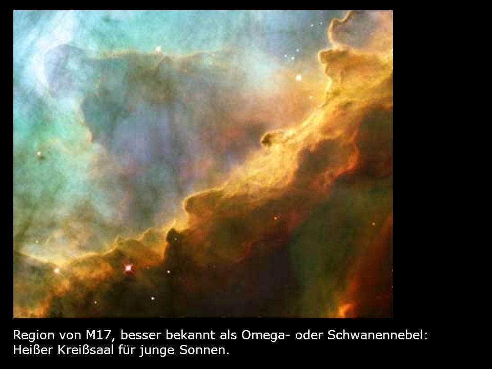 Totenmaske: Der Eskimo- Nebel besteht aus glühenden Resten einer Sternen- explosion.