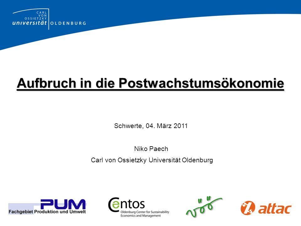 Niko Paech: Postwachstumsökonomie Was heißt Resilienz.