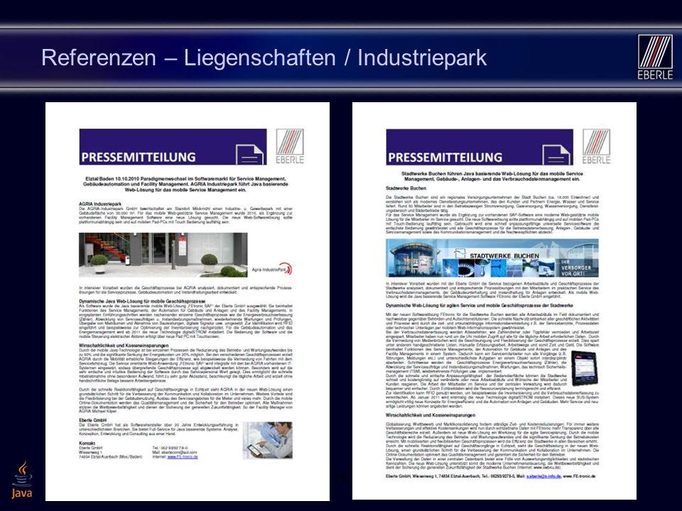 1614 Referenzen – Liegenschaften / Industriepark