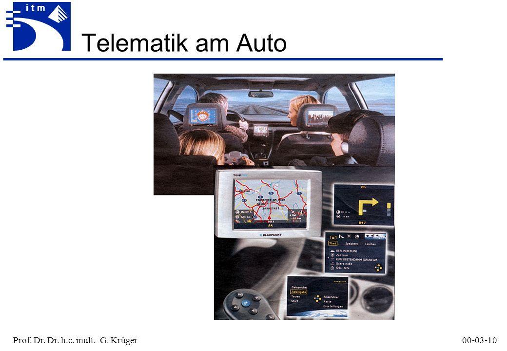 Prof. Dr. Dr. h.c. mult. G. Krüger00-03-10 itm Telematik am Auto