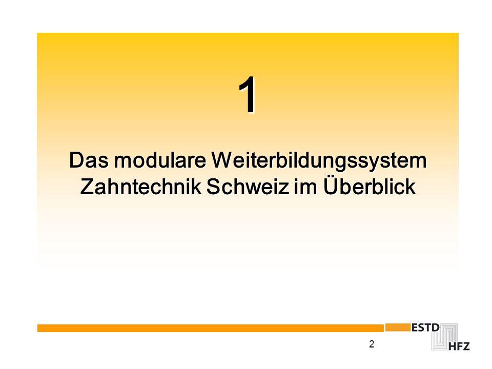 2 1 Das modulare Weiterbildungssystem Zahntechnik Schweiz im Überblick