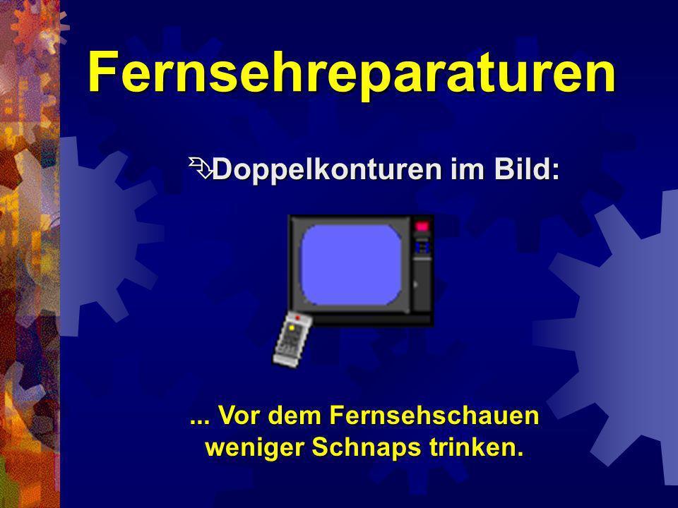 Fernsehreparaturen Ton fehlt, Bild verregnet: Ton fehlt, Bild verregnet:...