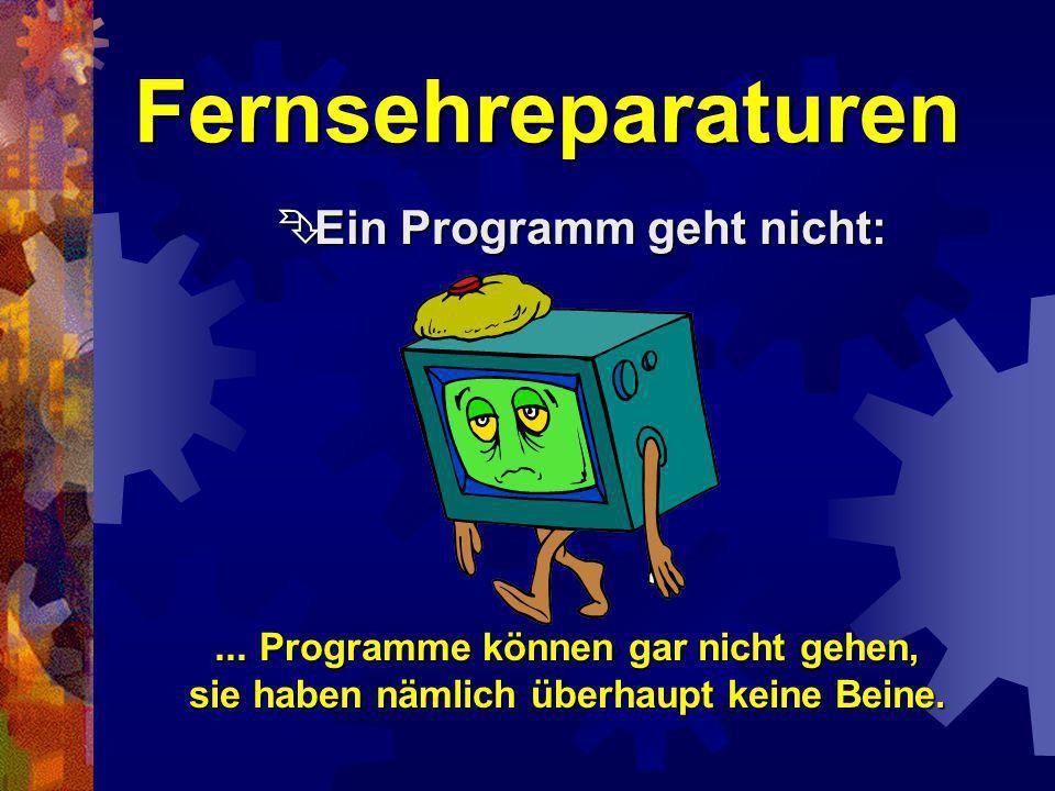 Fernsehreparaturen Keine Farbe trotz Farbfernsehgerät: Keine Farbe trotz Farbfernsehgerät:...