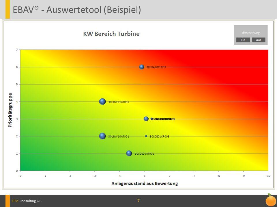 77 EBAV® - Auswertetool (Beispiel) EFM Consulting AG