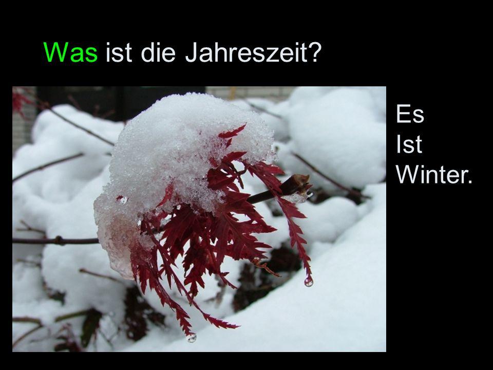 Was ist die Jahreszeit? Es Ist Winter.