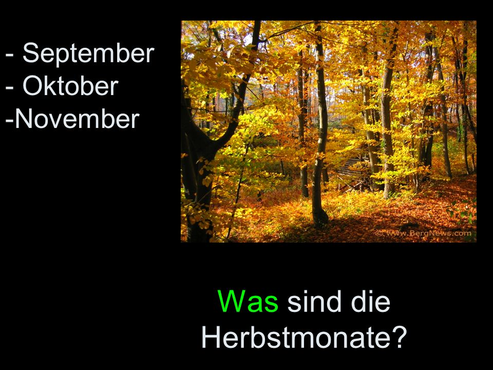 Was sind die Herbstmonate? - September - Oktober -November