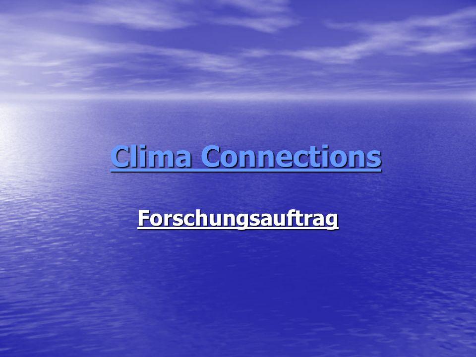 Clima Connections Forschungsauftrag