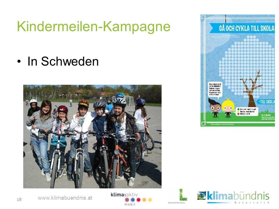 18 www.klimabuendnis.at Kindermeilen-Kampagne In Schweden